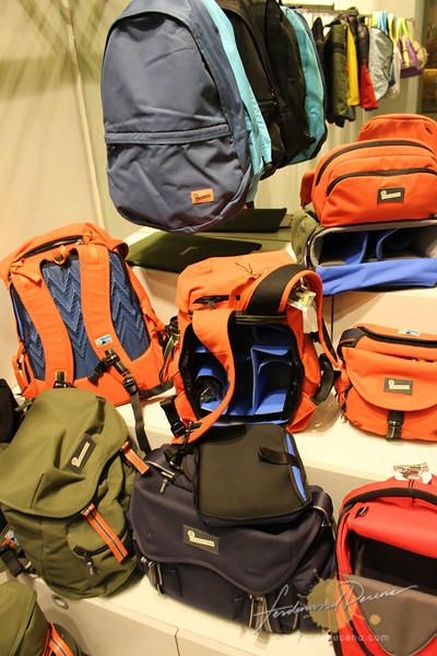 The Proud Stash (top) with new camera bags on display