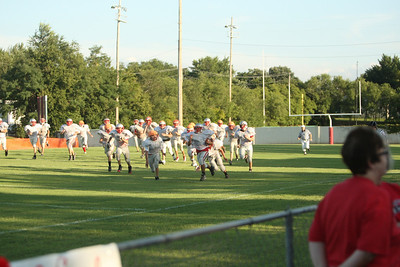 Crusader Football scrimmage