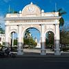 Triumphal arch, Parque Jose Marti in Cienfuegos