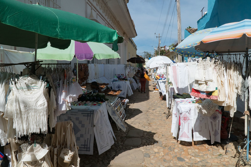 Craft and embroidery market in Trinidad de Cuba