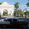 Chevrolet Bel Air in front of the triumphal arch, Cienfuegos