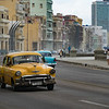 Classic car taxi along the Malecon, Havana