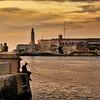 Fishing across from Castle Morro, Havana