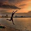 Jumping boy on the Malecon, Havana
