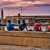 Across from Castle Morro, Havana. Five people more pleasing than six apparently.