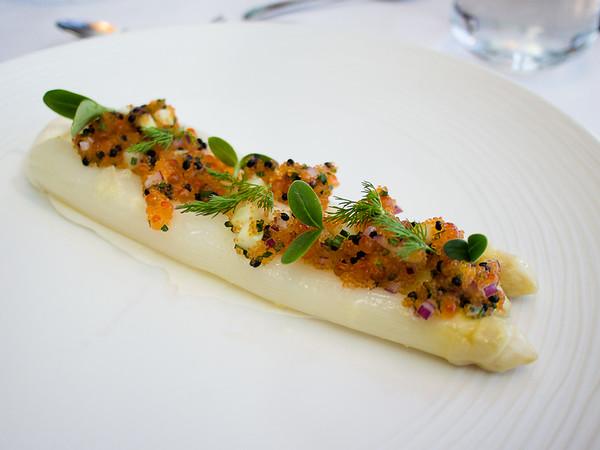 Asparagus & roe