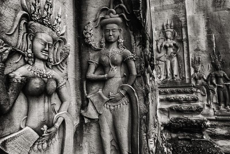 Temple Carvings, Siem Reap, Cambodia