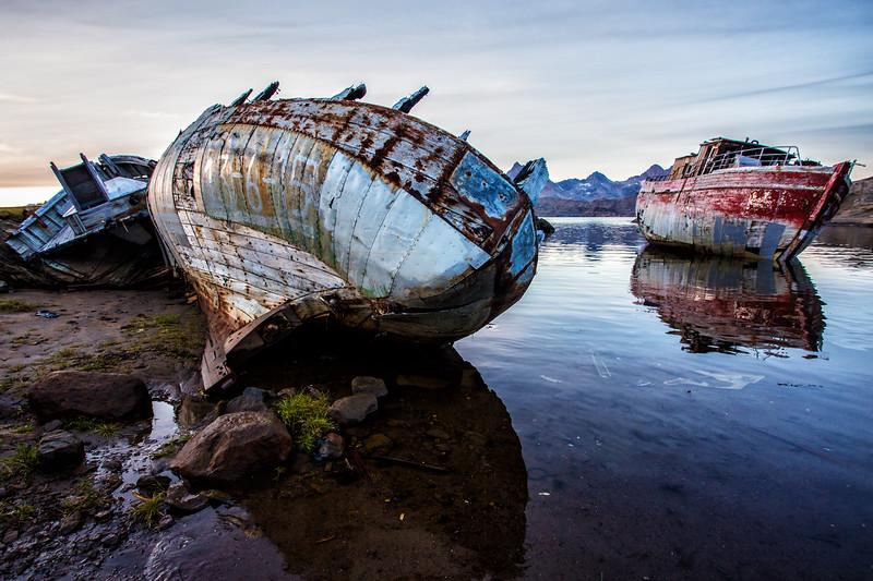 Derelict Boats, Tasiilaq, Greenland