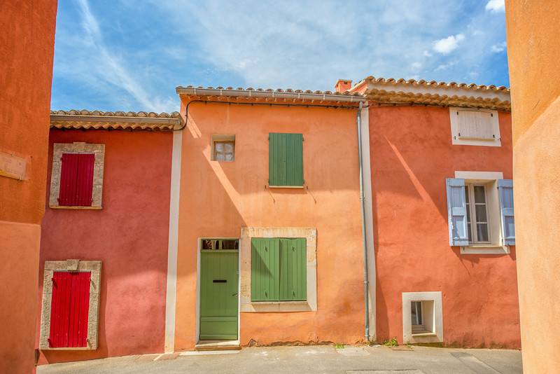 Houses, Roussillon, France