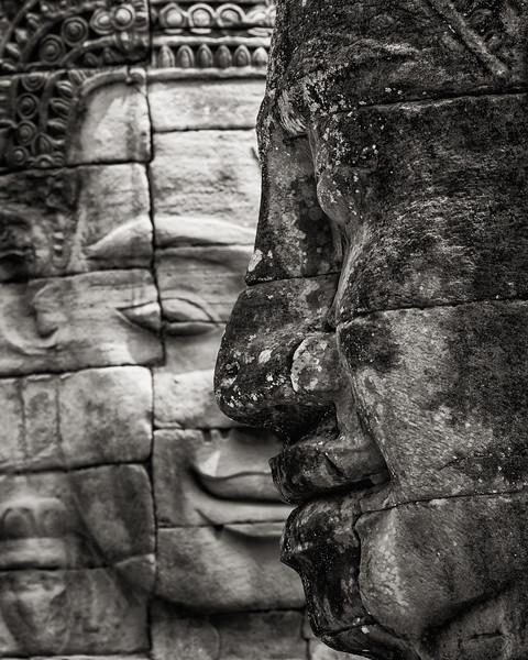 Temple Faces, Siem Reap, Cambodia