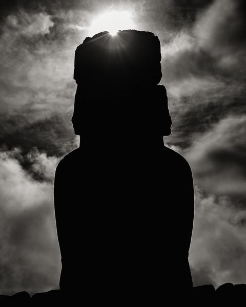 Moai Silhouette, Easter Island