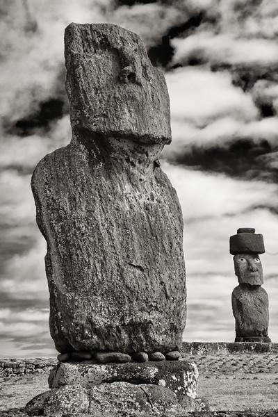 Moai on Platforms, Easter Island