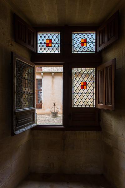 Courtyard View, Chateau de Biron, Dordogne, France