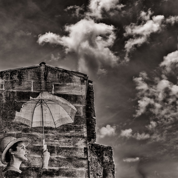 Torn Umbrella, Bonnieux, France