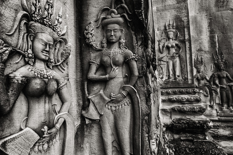 Temple Carvings, Siem Reap, Cambodia