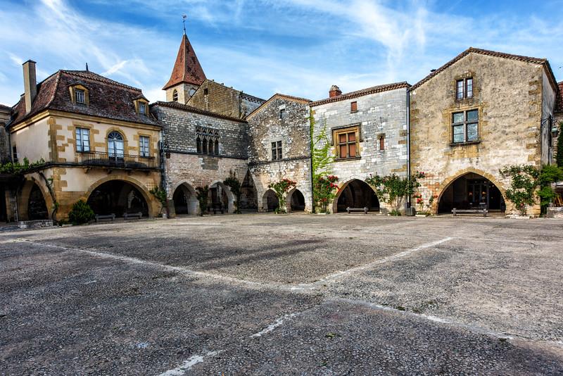 Town Square, Monpazier, Dordogne, France