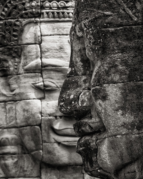 Temple Faces, Siem Reap, Cambodia