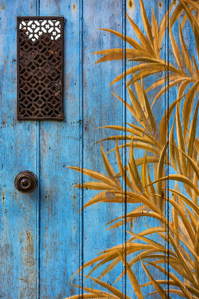 Blue Door, Roussillon, France