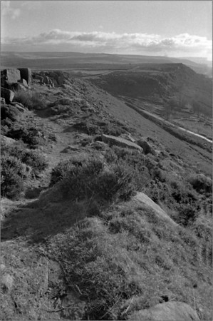 Curbar Edge B+W film
