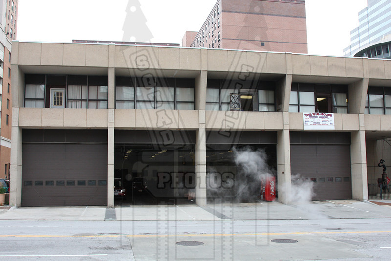 "Baltimore, Md. ""Steadman Station"" E-23, Rescue 1, Haz Mat. This is the west side of the firehouse."