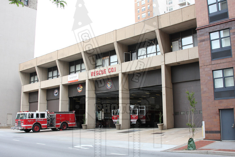 """Baltimore, Md. """"Steadman Station"""" E-23, Rescue 1, Haz Mat. This is the south side of the firehouse. There are other units assigned here also."""