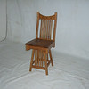 Western Counter / Bar Stool in Medium Oak