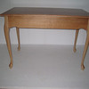 Back View of Natural QSO Queen Anne Desk