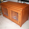 LCD TV Stand - Solid Red Cherry
