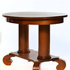 Antique Cherry Oval End Table with Drawer