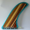 "Pivot with an ""eclectic"" glue-up of various woods. Translucent blue-green bead is filled with CSM (Cut Strand Mat)."