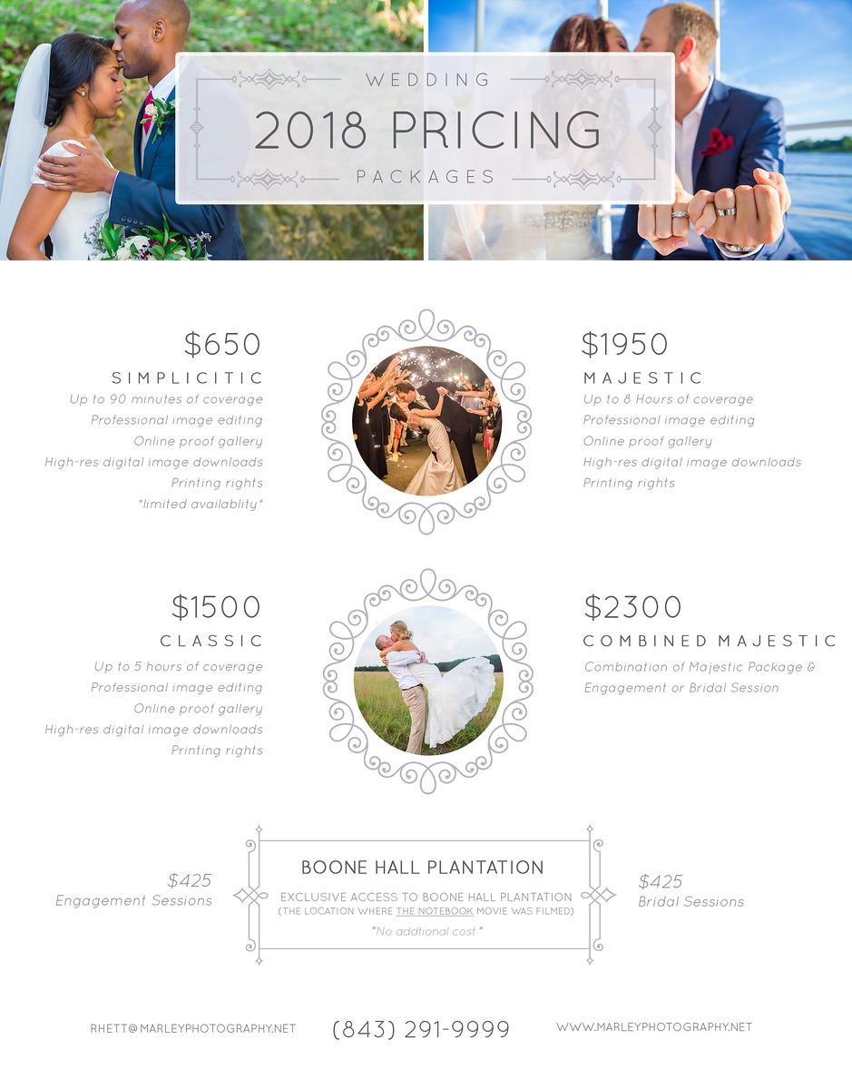 2018 Pricing Sheet1
