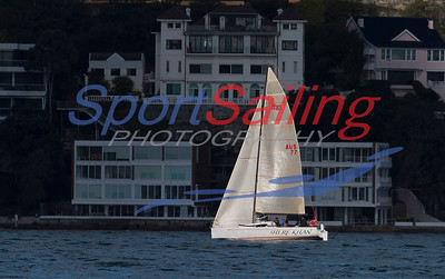 Shere Khan sailing to a CYCA Winter Series 2012 series win in very little breeze!