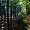 Elaborate gate on bridleway near Shipley Glen