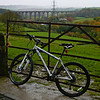 Somewhere near Wilsden on a route from St Ives called 'Hard'en Fast'. That's Hewenden viaduct (defunct now) in the background.