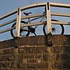 My bike at the less famous Dowley Gap Locks near Bingley.