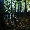 Bike on bridleway near Shipley Glen