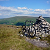 Cairn on top of a hill not far from Buckden. A very big hill that wasn't really designed for biking methinks...