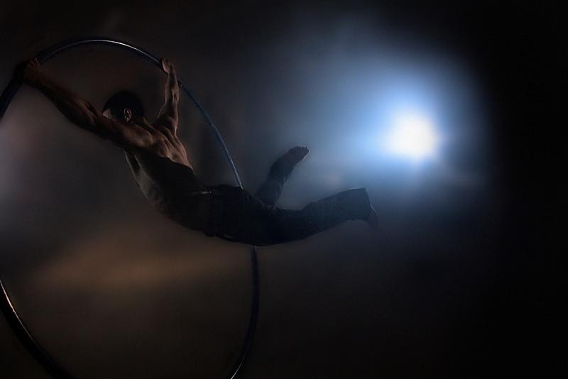 Superman on the Cyr wheel