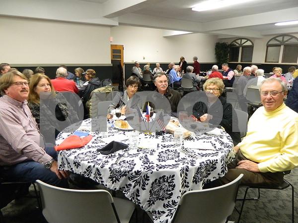 Left to right: Rick Fulkev, Chris Fulkev, Mary Wilson, John Wilson, Hans Nielsen, Darlene Nielsen.