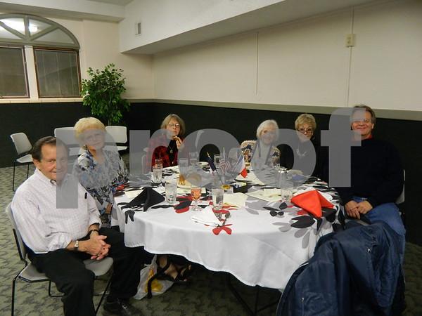 left to right: Francis Bednar, Patricia Bwsnar, Kay Baldus, Lois Freeman, Shirley Evans and Matt Bednar.