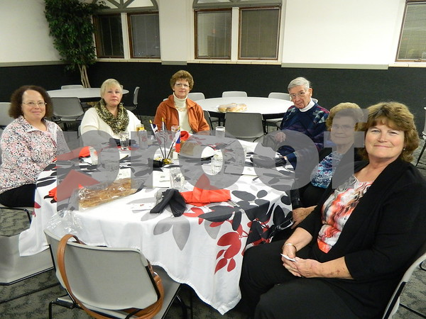 Left to right: Karen Glasen, Jacque Johanson, Barbara Pessica, Clarence Pessica, Betty Schneider, and Nancy Welson.