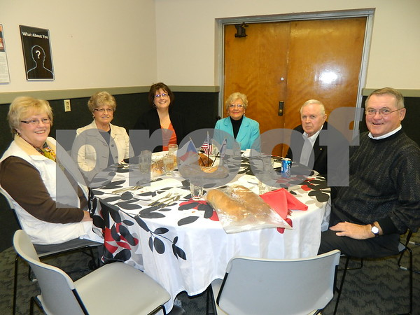 left to right: Barb Schulze, Margaret Laird, Corrina Korthals, Barb Ertl, Jim Ertl, and  Rog Schulze