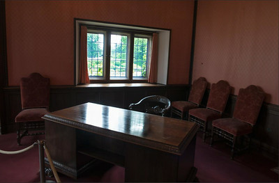 Stalin's desk at the Potsdam summit at the Cecilienhof, Potsdam, Germany.