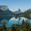 Wild Goose Island in St. Mary Lake at Glacier National Park.   This popular photo site has produced perhaps thousands of images similar but I am quite happy with this one.
