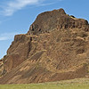 "As you drive up Devil's Gulch Canyon after leaving Lower Monumental Dam on the Snake River, you see the silhouette of the ""Old Man of Devil's Gulch"".  The forehead, eye, nose, lips and chin are clearly profiled in this basalt outcrop. See next photo."