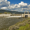Lower Monumental Dam on the Snake River.  Since 9/11 access is very limited. Previously one could drive across this dam and get some remarkable closeup views of the thundering spillways and navigation locks during this spring runoff.