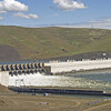Overview of John Day Dam and heavy spillways