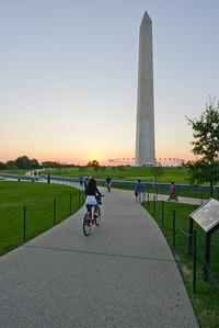 Washington Monument at sunset.