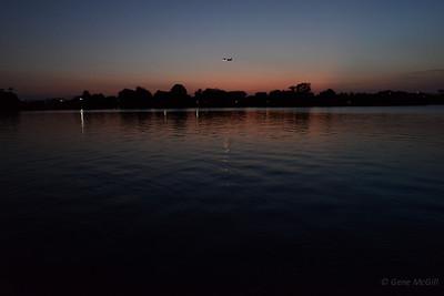 Tidal basin at dusk