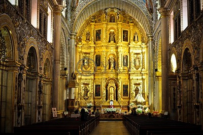 Church Interior in Oaxaca